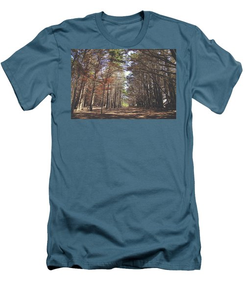 Men's T-Shirt (Slim Fit) featuring the photograph Making Our Way Through by Laurie Search