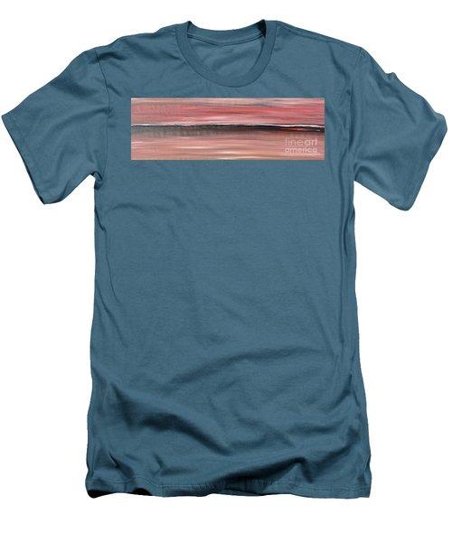 Malibu #34 Seascape Landscape Original Fine Art Acrylic On Canvas Men's T-Shirt (Athletic Fit)