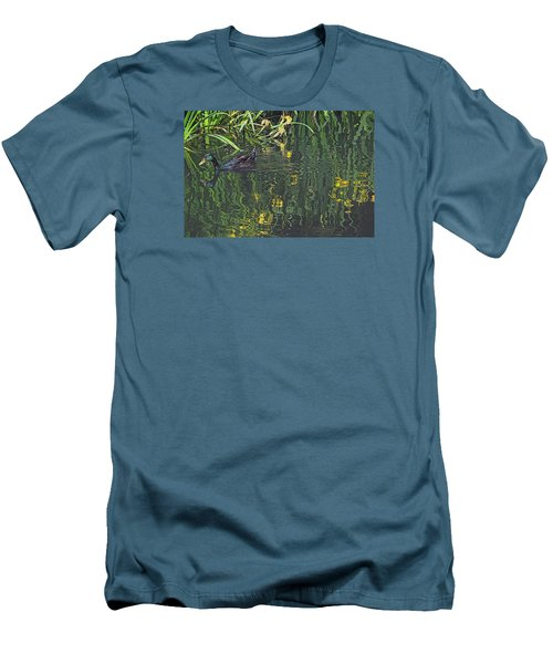 Men's T-Shirt (Slim Fit) featuring the photograph Mallard In The Marsh by Suzy Piatt