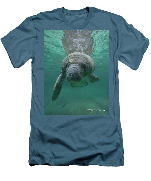 Manatee Men's T-Shirt (Slim Fit) by Tim Fitzharris