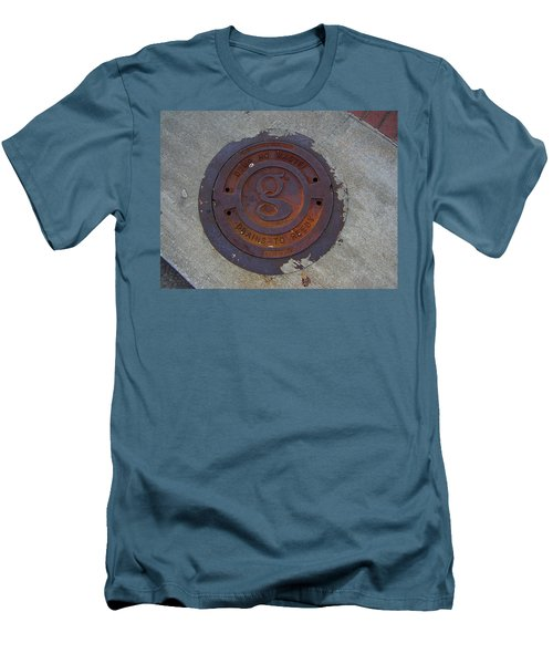Manhole IIi Men's T-Shirt (Slim Fit) by Flavia Westerwelle
