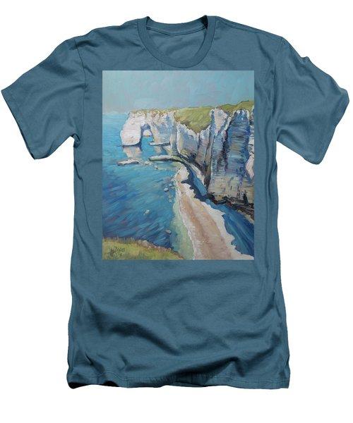Manneport, The Cliffs At Etretat Men's T-Shirt (Athletic Fit)