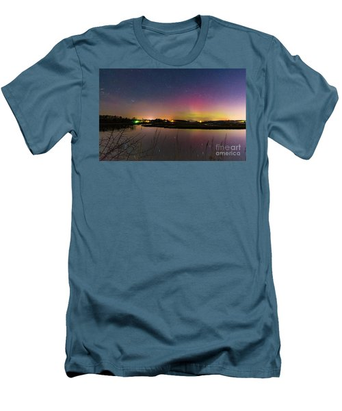 March 6 Aurora Over Scarborough Marsh  Men's T-Shirt (Athletic Fit)