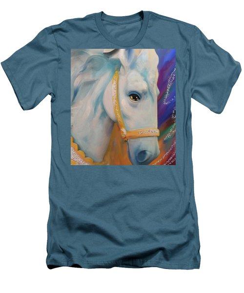 Mardi Gras Horse Men's T-Shirt (Slim Fit) by Julianne Ososke