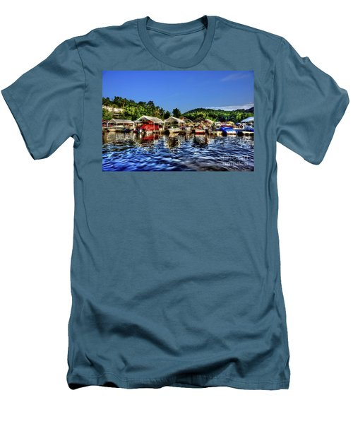Marina At Cheat Lake Clear Day Men's T-Shirt (Athletic Fit)