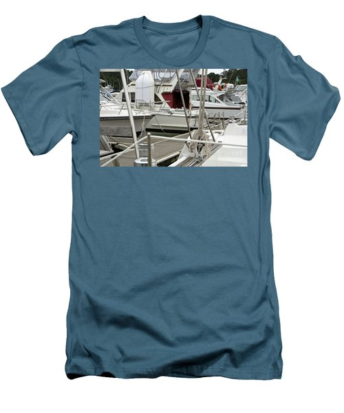 Men's T-Shirt (Slim Fit) featuring the photograph Marina Stuff by Yurix Sardinelly