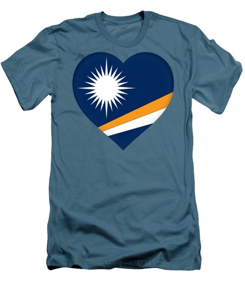 Marshall Islands Flag Heart Men's T-Shirt (Athletic Fit)
