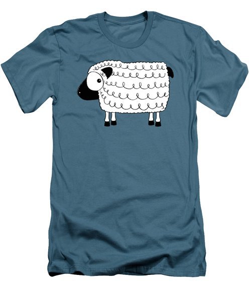 Marshmallow The Sheep Men's T-Shirt (Slim Fit) by Lucia Stewart