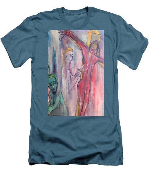 Martyrdom Men's T-Shirt (Slim Fit) by Kenneth Agnello