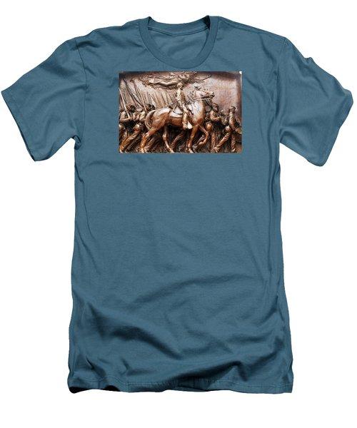 Massachusetts 54th  Men's T-Shirt (Athletic Fit)