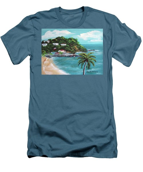 Maunabo Puerto Rico Men's T-Shirt (Slim Fit) by Luis F Rodriguez