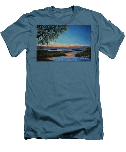 May River Sunset Men's T-Shirt (Slim Fit) by Stanton Allaben