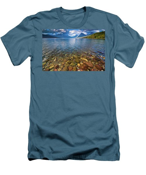 Mcdonald Lake Colors Men's T-Shirt (Athletic Fit)