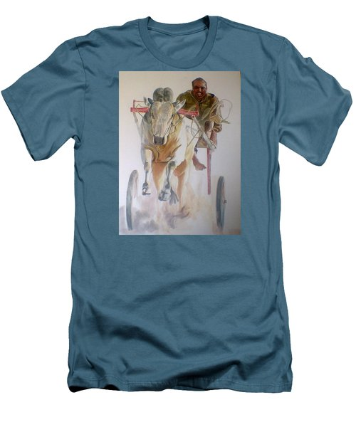 Me And My Partener Men's T-Shirt (Slim Fit) by Khalid Saeed