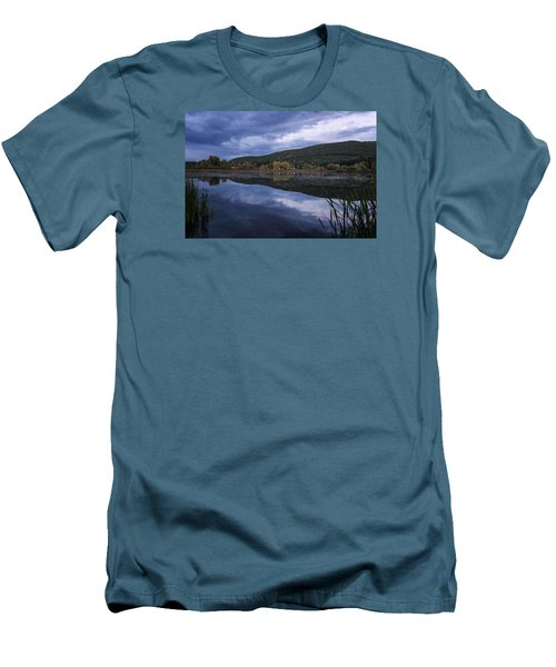 Men's T-Shirt (Slim Fit) featuring the photograph Meadows Dusk by Tom Singleton