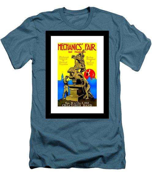 Mechanics Fair San Francisco 1913 II Wesley De Lappe Men's T-Shirt (Slim Fit) by Peter Gumaer Ogden Collection
