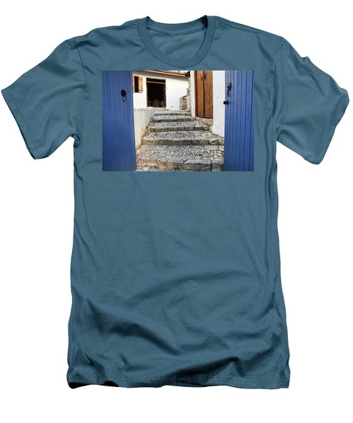 Mediteranean Old House Men's T-Shirt (Slim Fit) by Mike Santis