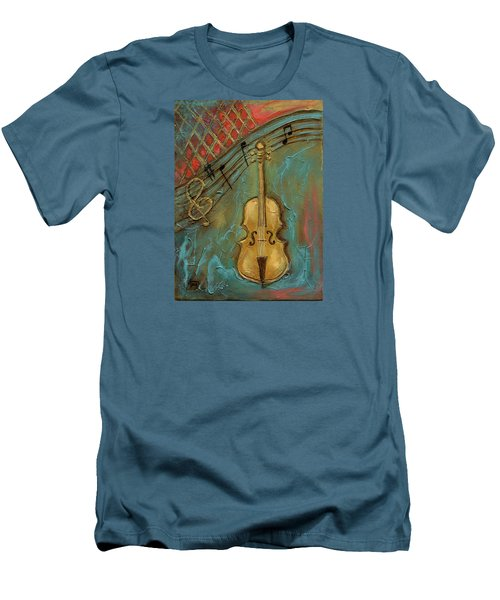Mello Cello Men's T-Shirt (Slim Fit) by Terry Webb Harshman