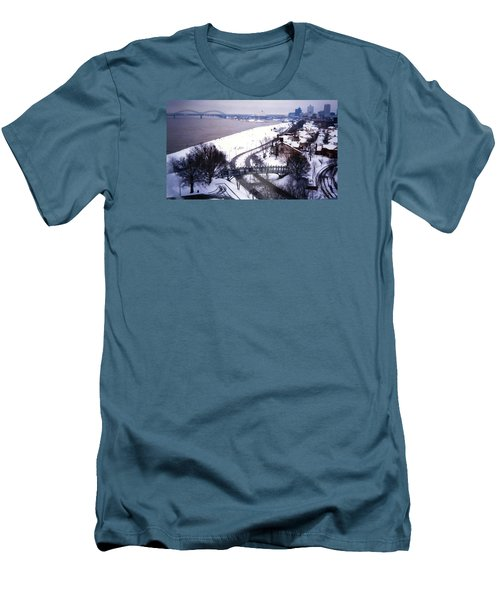 Memphis View From My Penthouse Men's T-Shirt (Slim Fit) by Belinda Lee