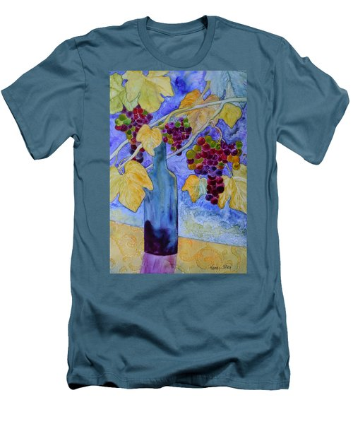 Men's T-Shirt (Slim Fit) featuring the painting Merlot by Nancy Jolley
