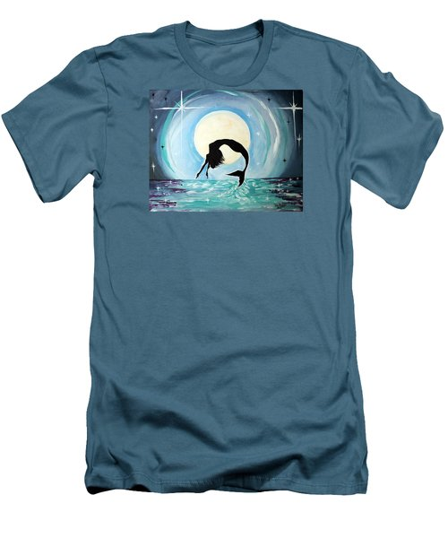 Men's T-Shirt (Slim Fit) featuring the painting Mermaid by Tom Riggs