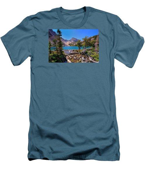Merriam Lake Men's T-Shirt (Slim Fit) by Greg Norrell