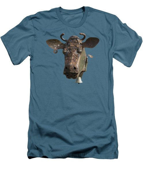 Metal Art Cow II Men's T-Shirt (Athletic Fit)