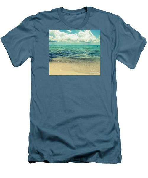 Men's T-Shirt (Slim Fit) featuring the photograph Miami Beach 5 by France Laliberte