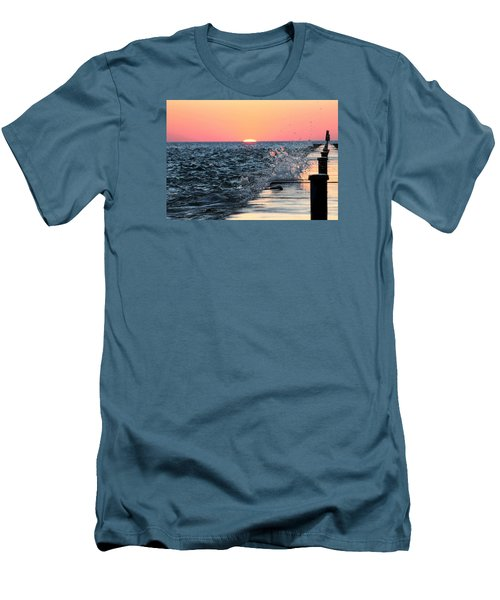 Men's T-Shirt (Slim Fit) featuring the photograph Michigan Summer Sunset by Bruce Patrick Smith