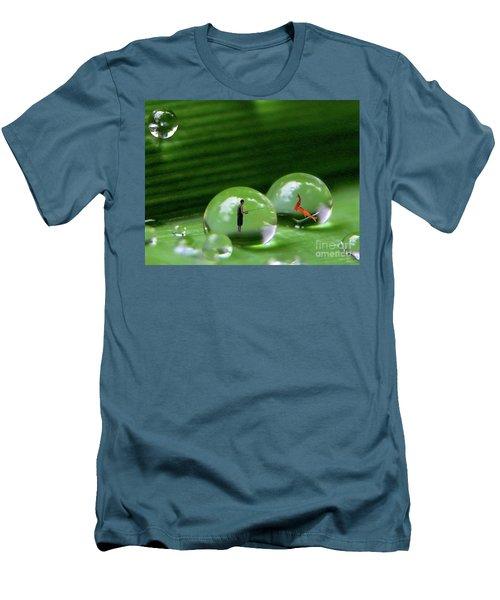 Microcosms Men's T-Shirt (Slim Fit) by Mariarosa Rockefeller