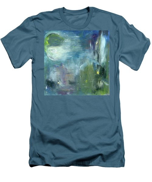 Men's T-Shirt (Slim Fit) featuring the painting Mid-day Reflection by Michal Mitak Mahgerefteh