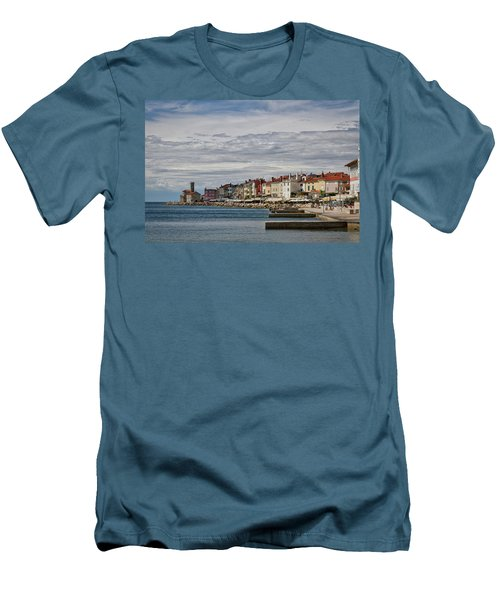 Men's T-Shirt (Athletic Fit) featuring the photograph Midday In Piran - Slovenia by Stuart Litoff