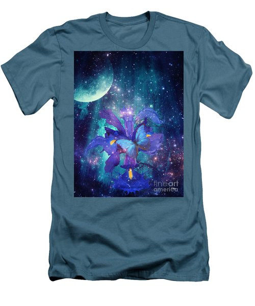 Midnight Butterfly Men's T-Shirt (Slim Fit) by Mo T