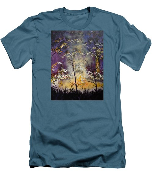 Midnight Campsite Men's T-Shirt (Slim Fit) by Dan Whittemore
