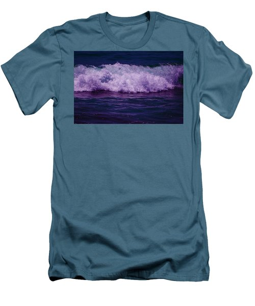 Midnight Ocean Wave In Ultra Violet Men's T-Shirt (Athletic Fit)