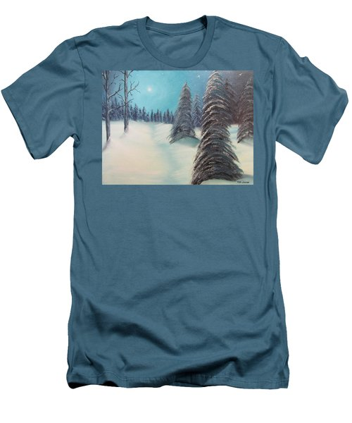 Midnight Silence Men's T-Shirt (Slim Fit) by Thomas Janos