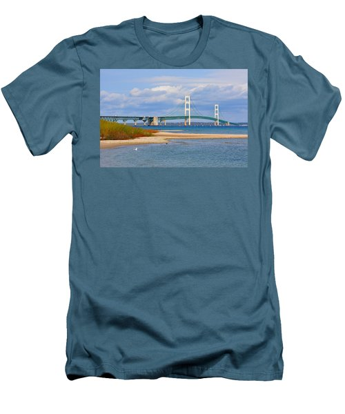 Mighty Mac In October Men's T-Shirt (Slim Fit) by Keith Stokes