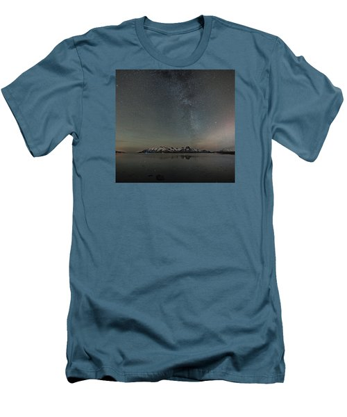 Milky Way And Northern Lights I Men's T-Shirt (Athletic Fit)