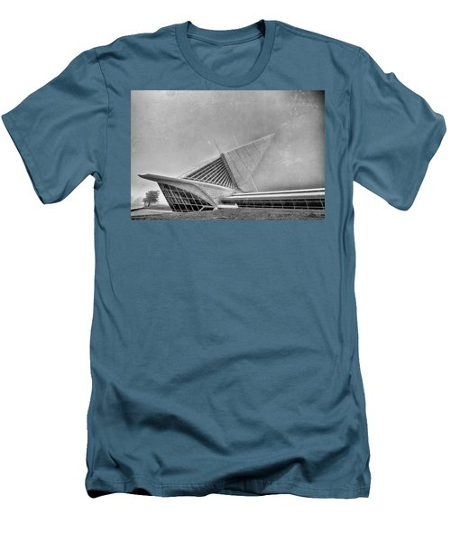 Men's T-Shirt (Slim Fit) featuring the photograph Milwaukee Museum Of Art Special 2 by David Haskett