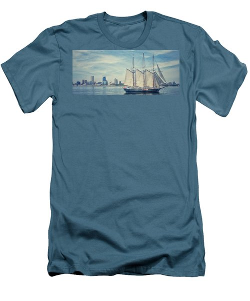 Milwaukee Schooner Men's T-Shirt (Slim Fit) by Nikki McInnes