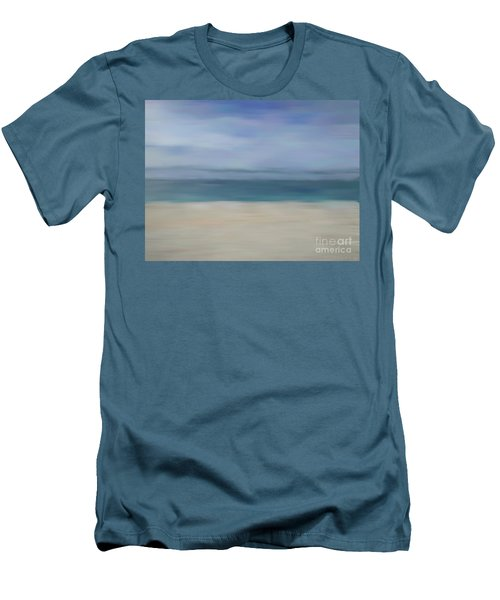 Men's T-Shirt (Athletic Fit) featuring the photograph Minimal Beach by Andrea Anderegg