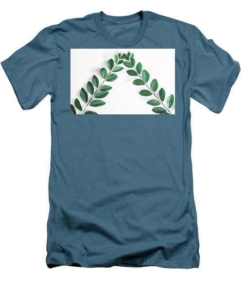 Men's T-Shirt (Athletic Fit) featuring the photograph Minimal Green 2 by Andrea Anderegg