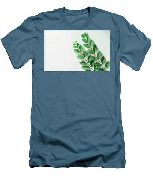 Men's T-Shirt (Athletic Fit) featuring the photograph Minimal Green by Andrea Anderegg