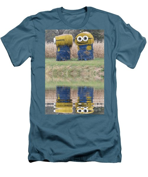 Minions In A Reflection Pool Men's T-Shirt (Athletic Fit)
