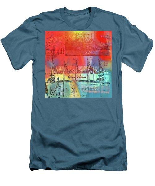 Men's T-Shirt (Slim Fit) featuring the photograph Minnesota Vikings Art by Susan Stone