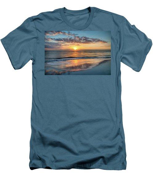 Men's T-Shirt (Slim Fit) featuring the photograph Mirror At Sunrise by Debra and Dave Vanderlaan