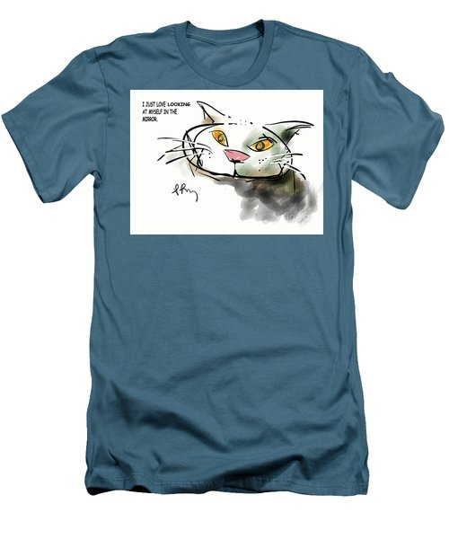 Mirror Cat Men's T-Shirt (Athletic Fit)