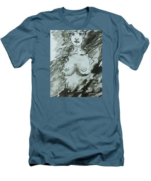 Men's T-Shirt (Slim Fit) featuring the painting Missing You by AmaS Art