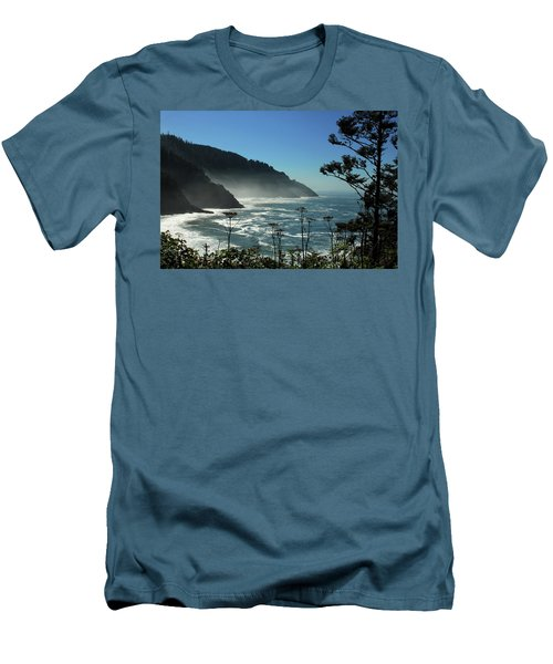 Misty Coast At Heceta Head Men's T-Shirt (Athletic Fit)