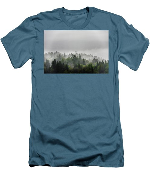 Misty Lions Gate View Men's T-Shirt (Slim Fit) by Ross G Strachan
